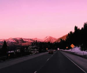 travel, road, and mountains image