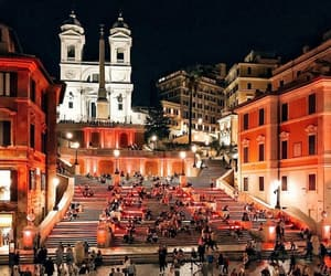 italy, rome, and night image