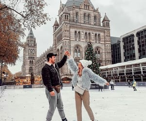 boyfriend, iceskating, and lovers image