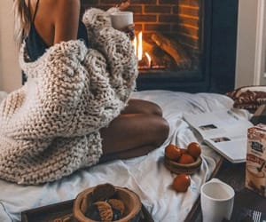 girl, cozy, and autumn image