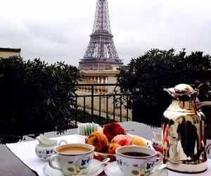 coffee, eiffel tower, and want image