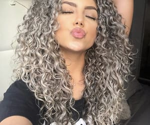 curly, girl, and make up image