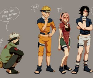 sasuke uchiha, team 7, and kakashi hatake image