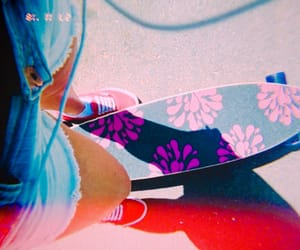 girl, lifestyle, and longboard image