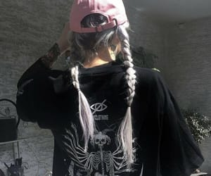 gothic, gray hair, and braids image
