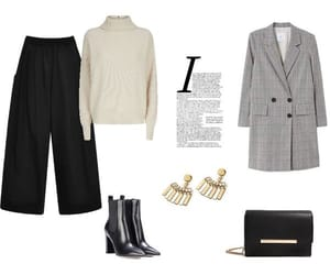 aesthetic, culottes, and gray coat image