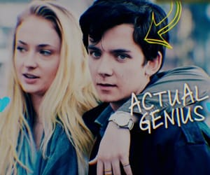asa butterfield, sophie turner, and time freak movie image