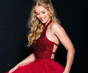 a-line prom dresses, homecoming dress lace, and prom dresses red image