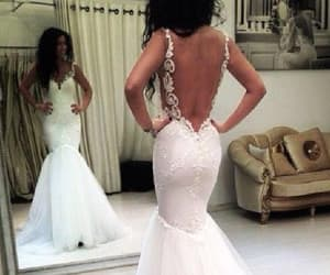 mermaid wedding dress, cheap wedding dress, and wedding dress sexy image