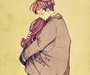 cold, girl & boy, and hug image