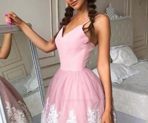 pink homecoming dresses and a-line homecoming dresses image