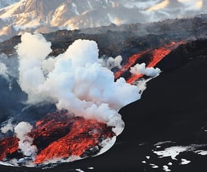 volcano, theme, and lava image