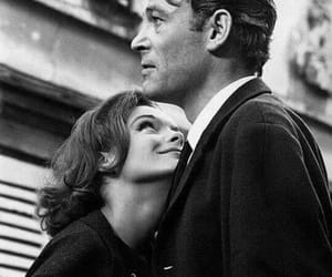 couple, black and white, and Peter O'Toole image