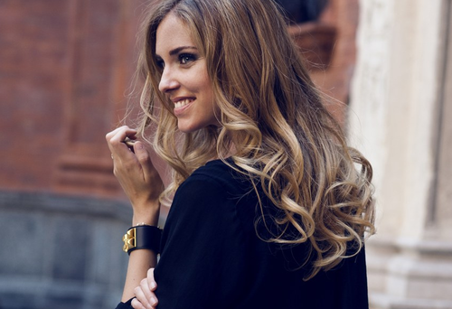 pretty, smile, and ombre hair image