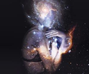 stars, galaxy, and art image