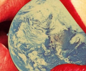 earth, lips, and red image