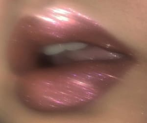 lips, aesthetic, and glitter image