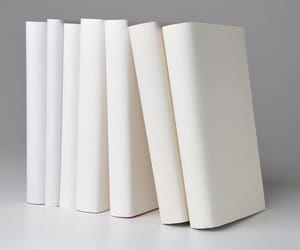 books, white aesthetic, and white image