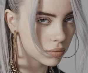 artists, gray hair, and billie eilish image