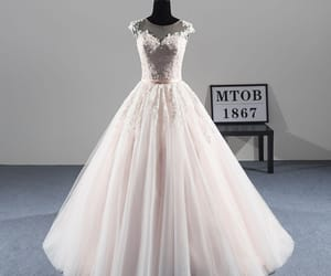 bridal gown, tulle wedding gown, and classy wedding dress image