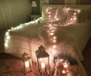 decoration, light, and bedroom image