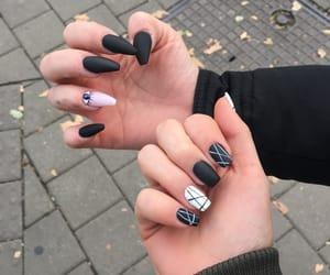black, long, and nails image