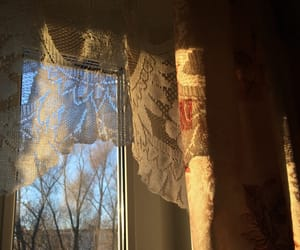 curtain, evening, and home image