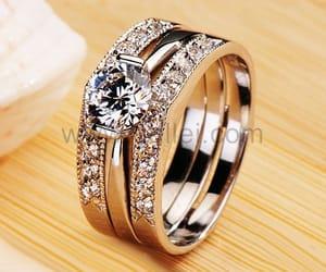 diamond, diamond ring, and engagement image