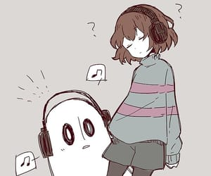 frisk, undertale, and napstablook image
