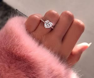 ring, pink, and heart image