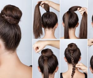 bun, hairstyle, and tutorial image