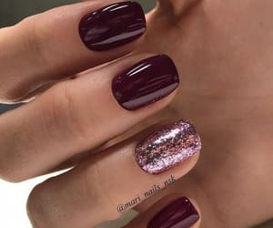glitter, winter, and nails image