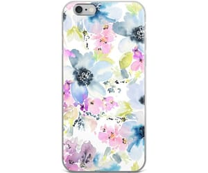 female, flowers, and phonecase image