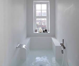 bathroom, bath, and white image