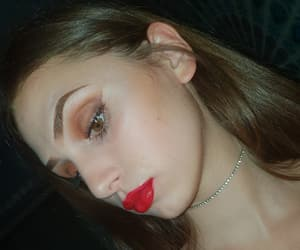 eyebrow, NYX, and redlips image