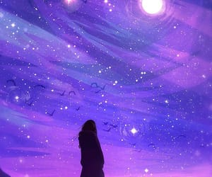 stars, purple, and sky image