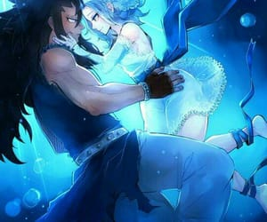 levy, gajeel, and fairy tail image