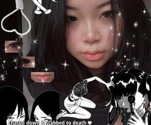 alternative, black hair, and selfie image