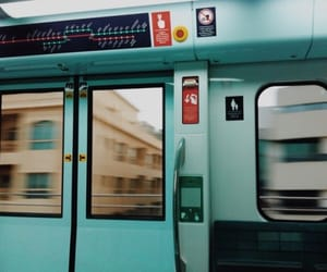 blue, train, and aesthetic image
