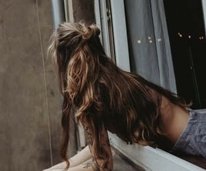 body, brown hair, and girl image