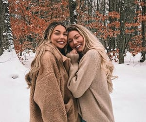 friends and snow image