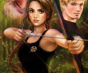 peeta, fanart, and katniss image