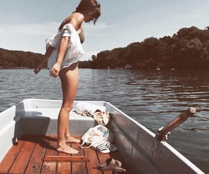 boat, carefree, and dress image