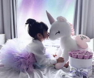unicorn, girl, and baby image