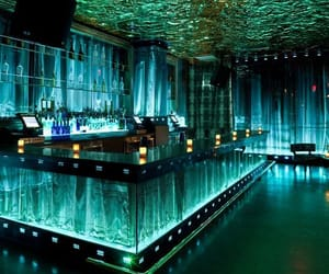 bar, nightclub, and green image