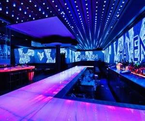 bar, neon, and bartop image