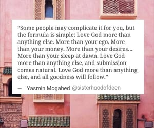god, quote, and mogahed image