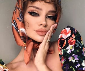 beauty, florals, and makeup image