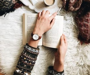 books, hot cocoa, and cozy image