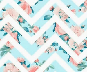 chevron and floral image